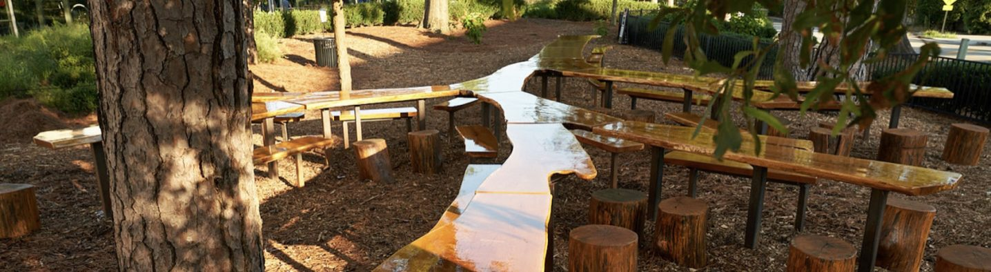 Outdoor Table at Atlanta History Center Preserves Story of 140-Year-Old Oak