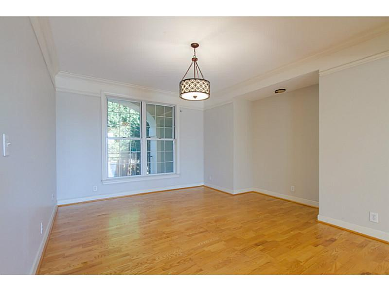 Dining Room. Large dining room with alcove for buffet or cabinet. access to kitchen and open to living room.
