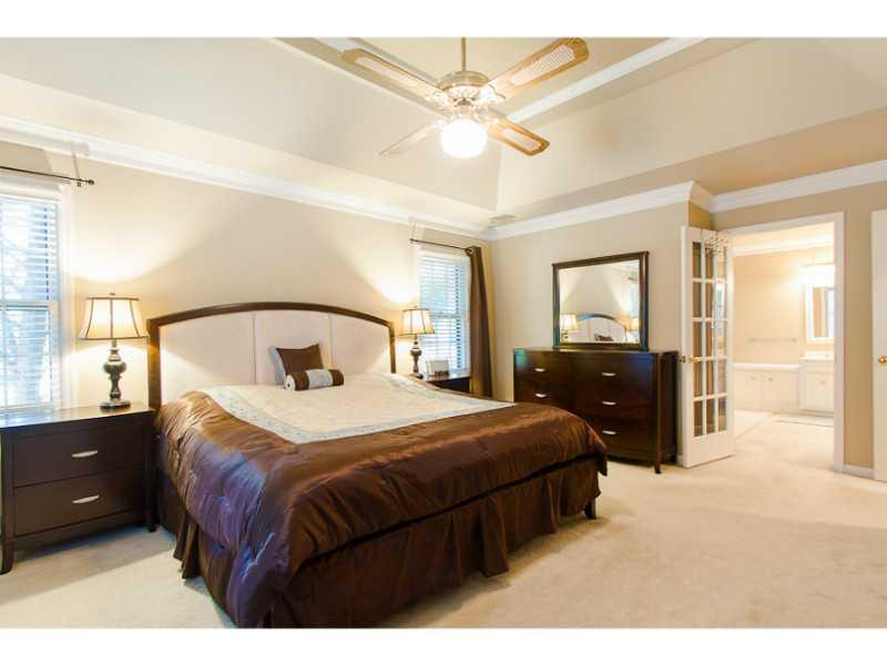 Master Bedroom. Large master bedroom with tray ceiling.