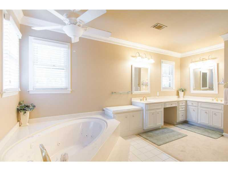 Master Bath/Spa. Master bath with double sinks and separate tub and shower.