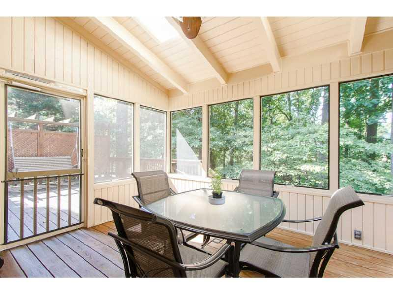 Screened Porch. Screened porch with views to private back yard.