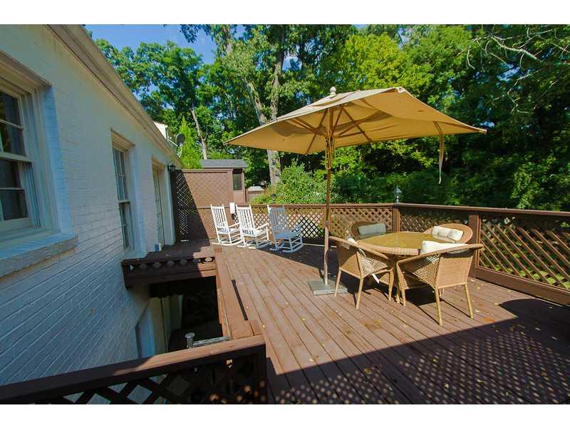 Patio/Deck. Sunny deck with private backyard