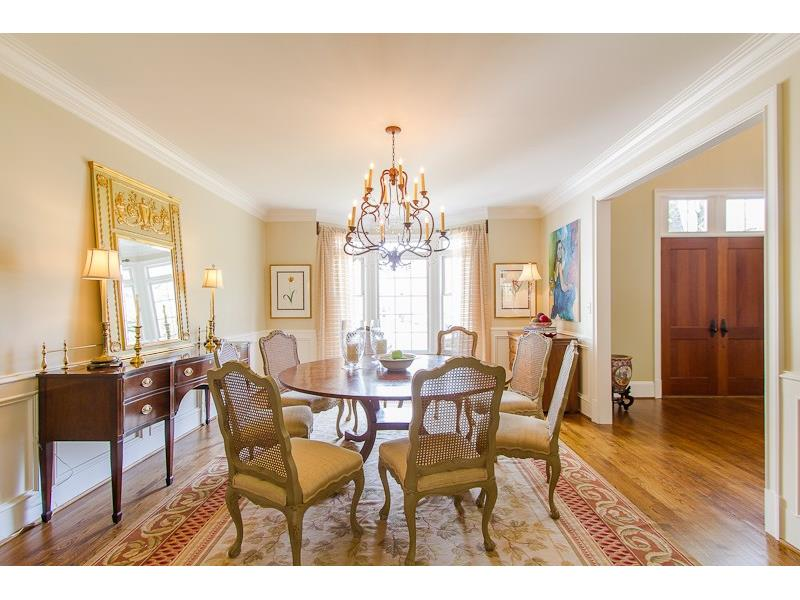 Formal dining room.  Perfect for a round table but space will also accomodate a full sized rectangular table.