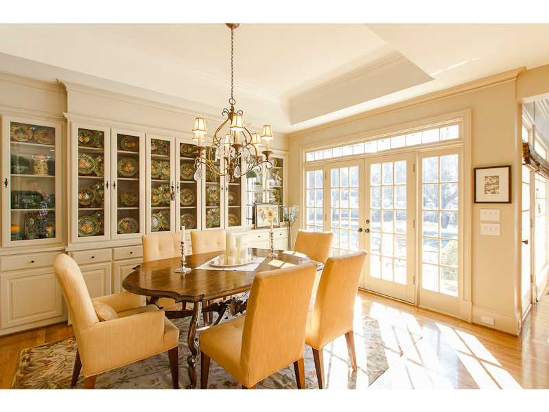 Breakfast Room. Breakfast area with great storage cabinets for serving pieces or displaying china.