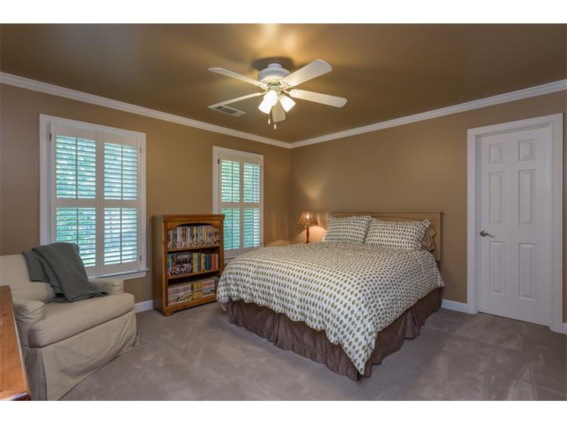 UPPER LEVEL: Complete with plush carpet, fan and light combos, crown and base molding and walk-in closets, guests will always feel welcome and comfortable while staying in your home.