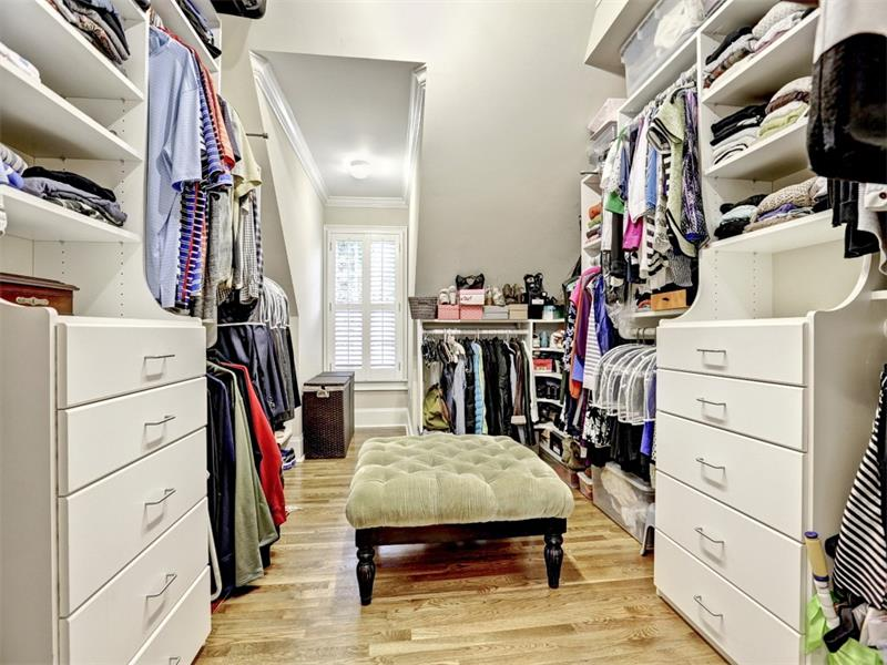 There is so much room in this closet you might just sit and enjoy the view of your clothes for awhile!