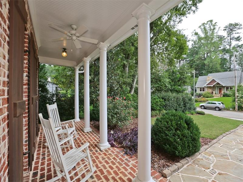 Awww. The perfect Southern porch to enjoy overlooking the best street in Brookhaven!