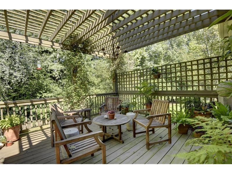 This beautiful deck overlooks the private backyard. This home has so many options for enjoying the outdoors.