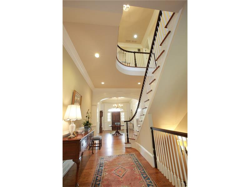 Entry Foyer. This 3 level home with hardwood floors and 10+ ft ceilings throughout