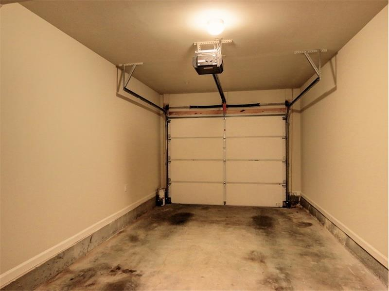 Garage with storage room.
