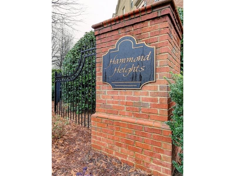 Hammond Heights is so convenient to Sandy Springs City Walk.