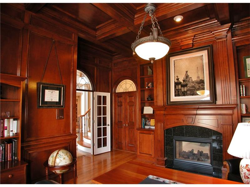 Paneled Gentlemen's Study with Fireplace