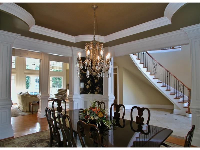 Banquet Sized Dining Room with Trey Ceiling