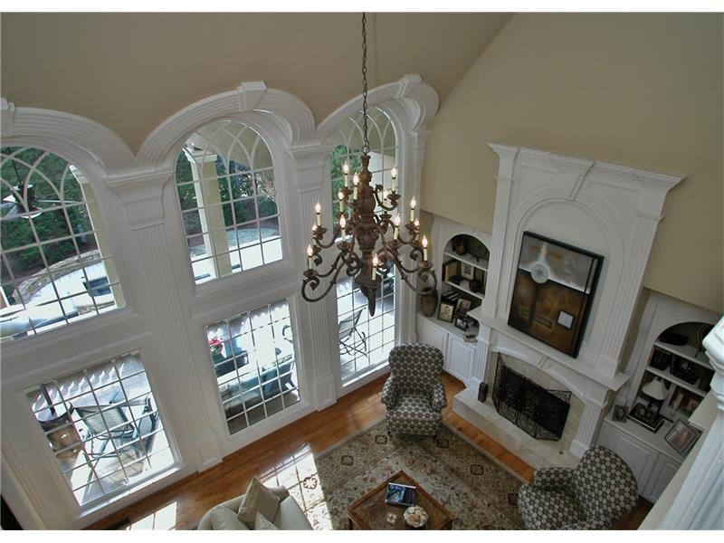 Over-sized two story great room with Gorgeous Ceiling Architecture