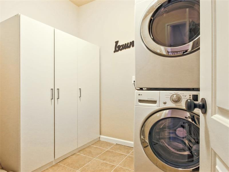 Laundry room is located upstairs