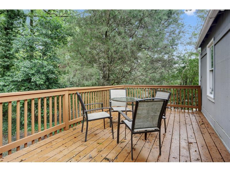 Brand new deck is perfect for entertaining.
