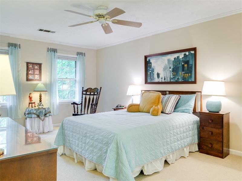 Master Bedroom is large enough for a sitting area and has 2 closet areas
