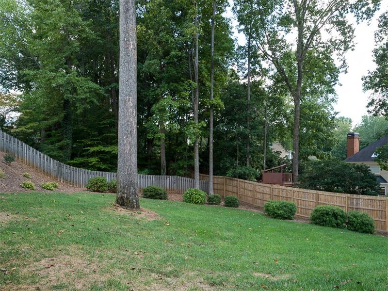 Private, fenced backyard.  Irrigation system in front and back