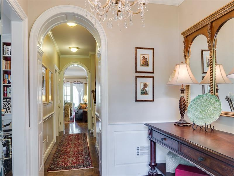 Entry foyer with double archway.