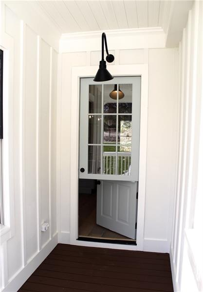 Dutch Door open from the bottom - perfect for letting the dog out!
