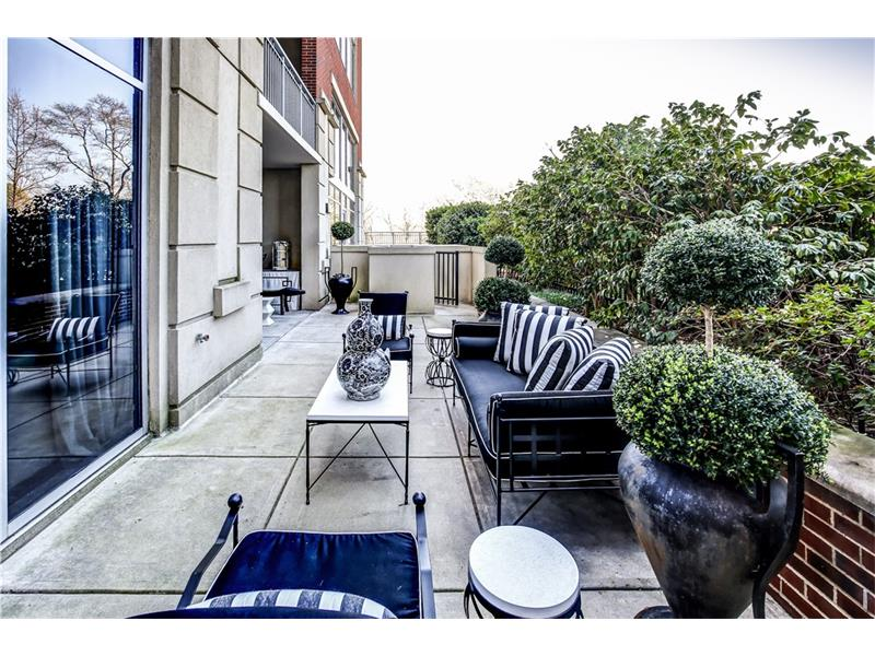 Private patio that belongs to only unit 311, these units rarely come on the market!