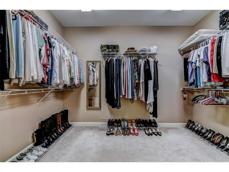 Fantastic walk-in master closet that can be customized to fit your needs