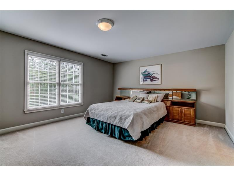 Huge secondary bedroom shares a jack and jill bath. All secondary bedrooms feature substantial closets.