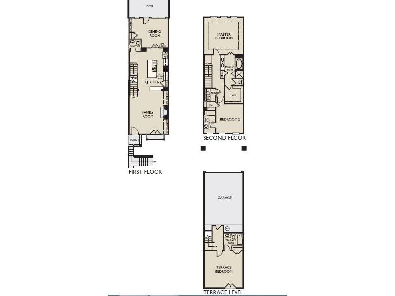 The Amhurst provides the owner the best in an open home design. The main level is open front to back. The kitchen is ideally situated in the center of the plan. The design includes a spacious full height pantry cabinet. In addition to the island, the