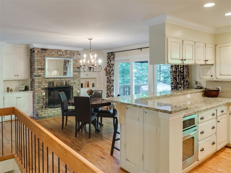 Fully updated kitchen opens to charming keeping room