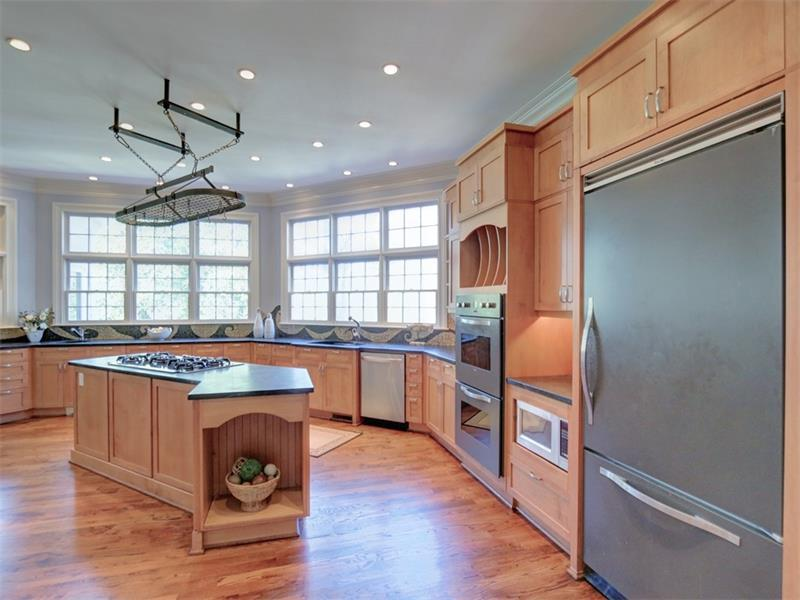 Kitchen designed for renown Atlanta chef from Food Network.