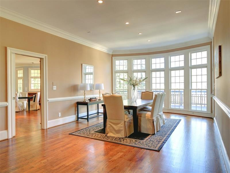 Large formal dining area for entertaining.
