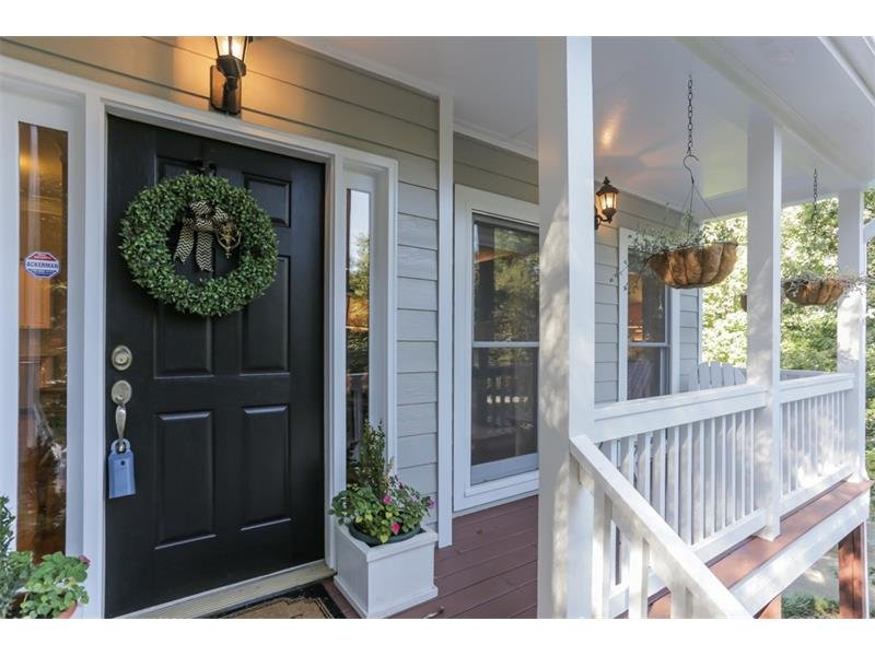 Charming covered front entry