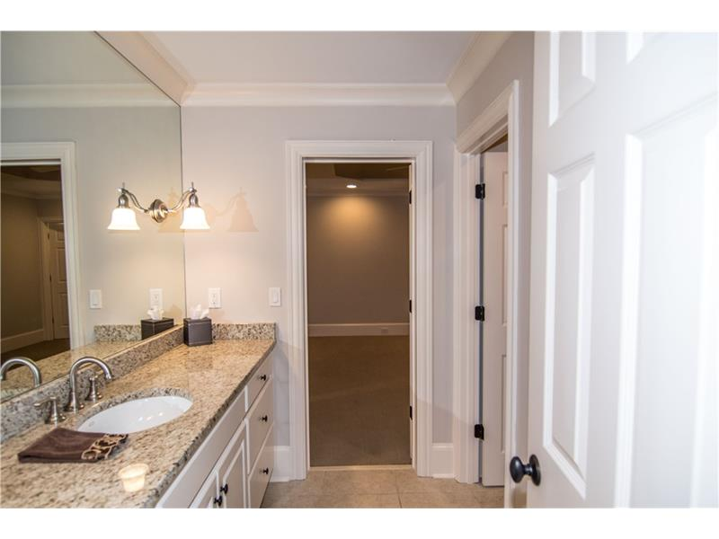 Large bath with separate toilet & steam shower. Private access from downstairs bedroom. New faucet and supply lines.