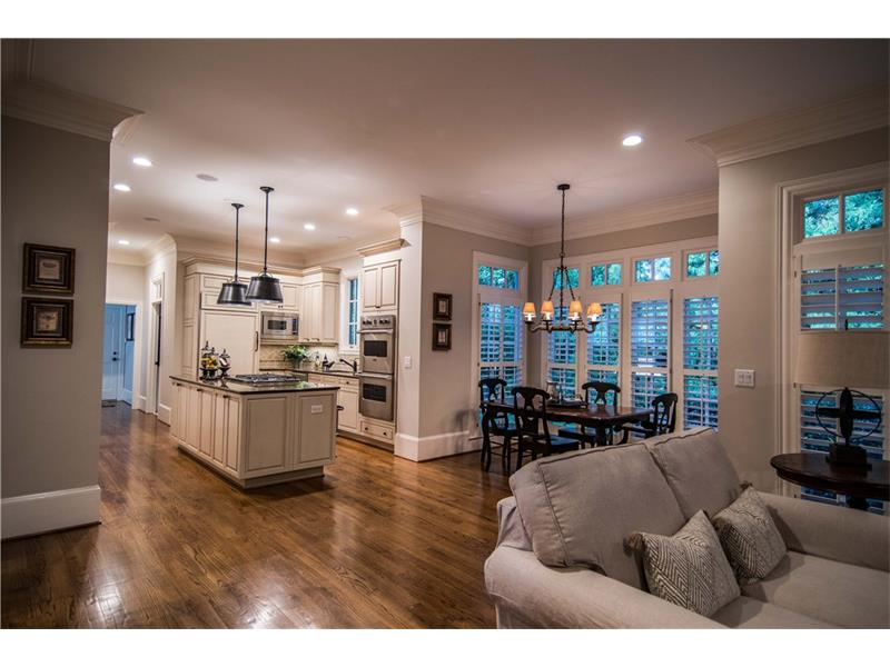 Kitchen features high end appliances and functional design. Separate breakfast area and keeping room. Views from every window capture the beauty of mature trees.