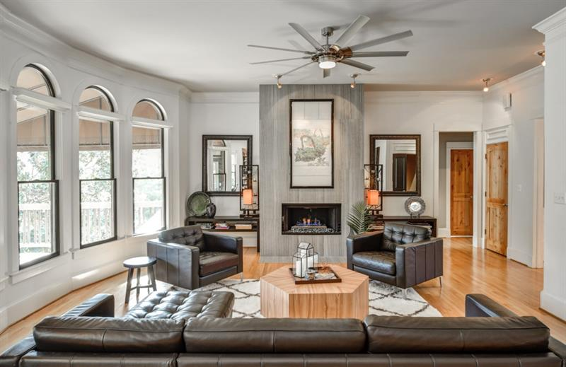 You will find lots of stylistic details throughout the home.  This family living area is located just off the kitchen.